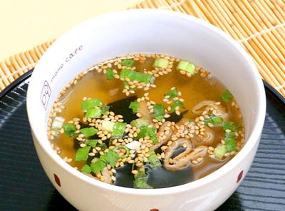 温か簡単スープ
